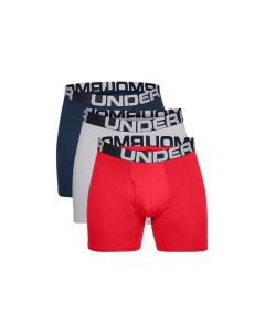 męskie Under Armour Charged Cotton 6IN 3 Pack 1363617-600 001